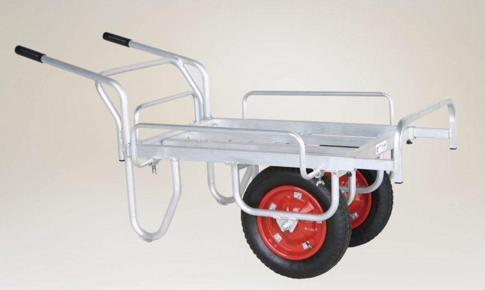 サイドガード付平型2輪車(1輪車に付け替え可能)