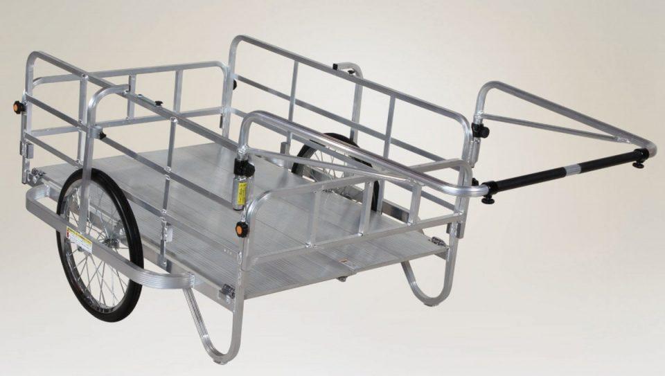 アルミ製 折り畳み式リヤカー(全幅110cm)