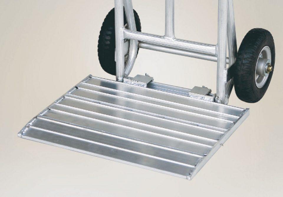 アルミ製 重量物運搬台車 (荷台ワイドアタッチメント付)