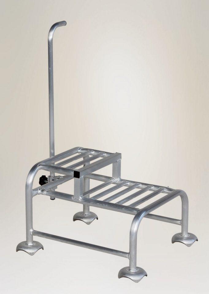 アルミ製 段付踏台 (2段タイプ)