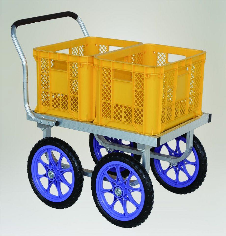 アルミ製ハウスカー 荷台面平形4輪車タイプ