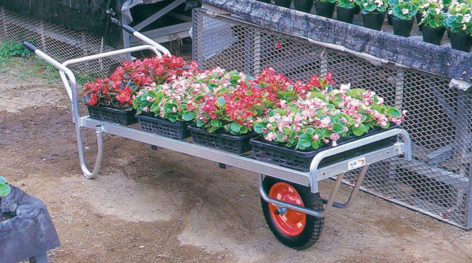 アルミ製 花用1輪車・2輪車(荷台は全面フラット)